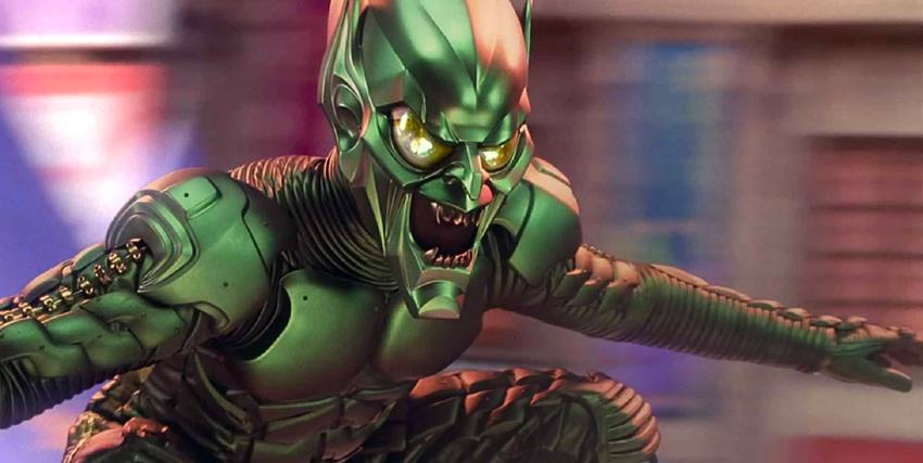 Il green Goblin nel film Spider-Man di Sam Raimi - nerdface