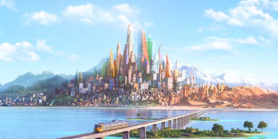 una veduta panoramica di zootropolis - nerdface