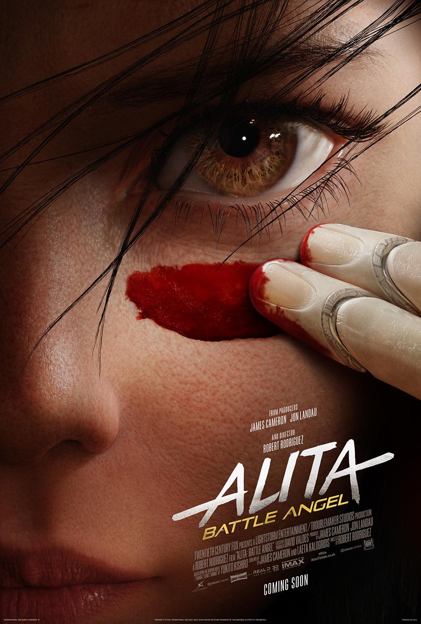 locandina ufficiale del film alita - nerdface