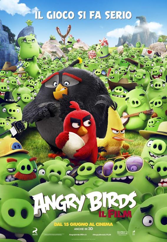 locandina ufficiale di angry birds il film - nerdface