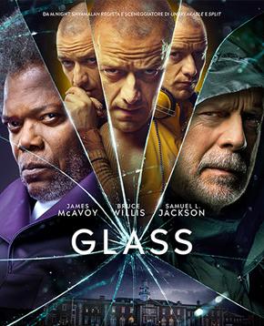 Locandine ufficiale del film Glass - nerdface