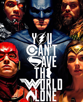 Locandina ufficiale del film Justice League - nerdface