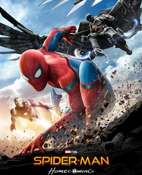 locandina ufficiale del film Spider-Man Homecoming - nerdface