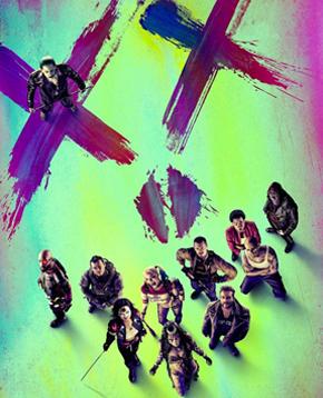 locandina ufficiale del film Suicide Squad - nerdface