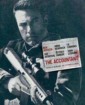 locandina ufficiale di the accountant - nerdface