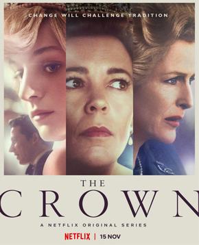 locandina ufficiale della quarta stagione di the crown - nerdface