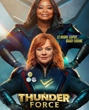 locandina ufficiale del film Thunder Force - nerdface