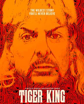 locandina ufficiale di tiger king - nerdface
