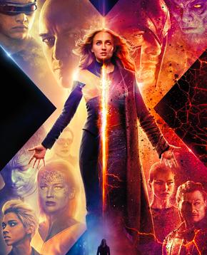 locandina ufficiale di X-Men: Dark Phoenix - nerdface