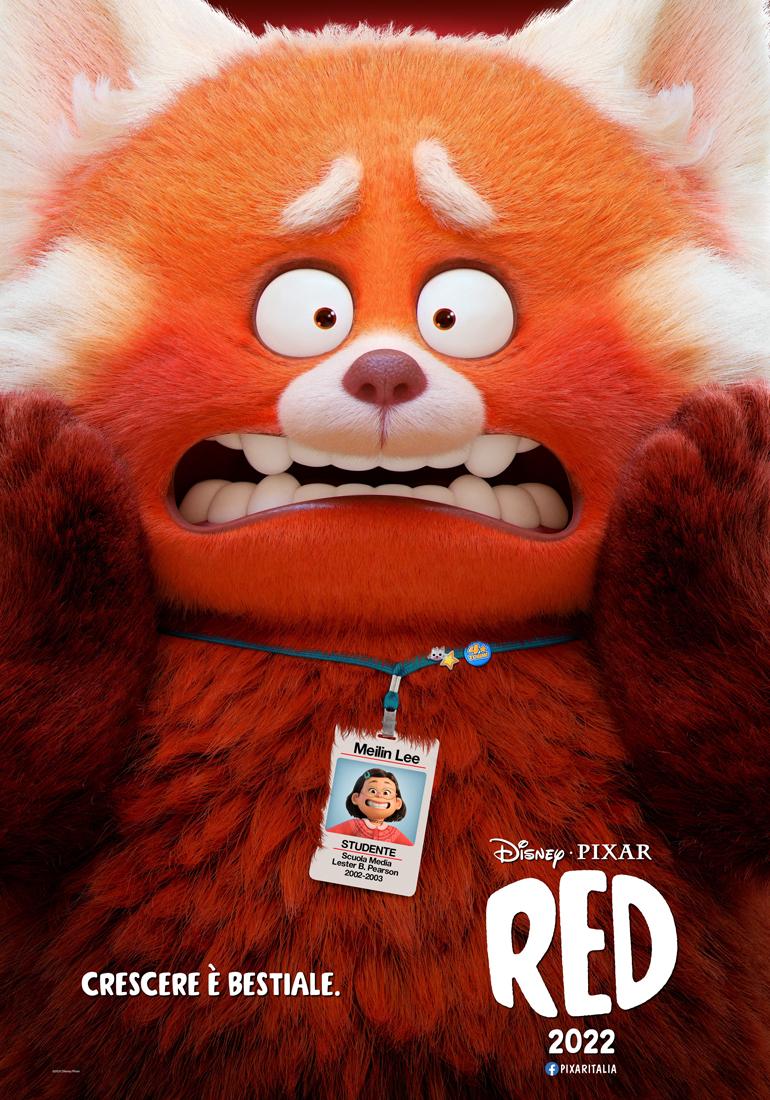 poster ufficiale del film disney pixar red - nerdface