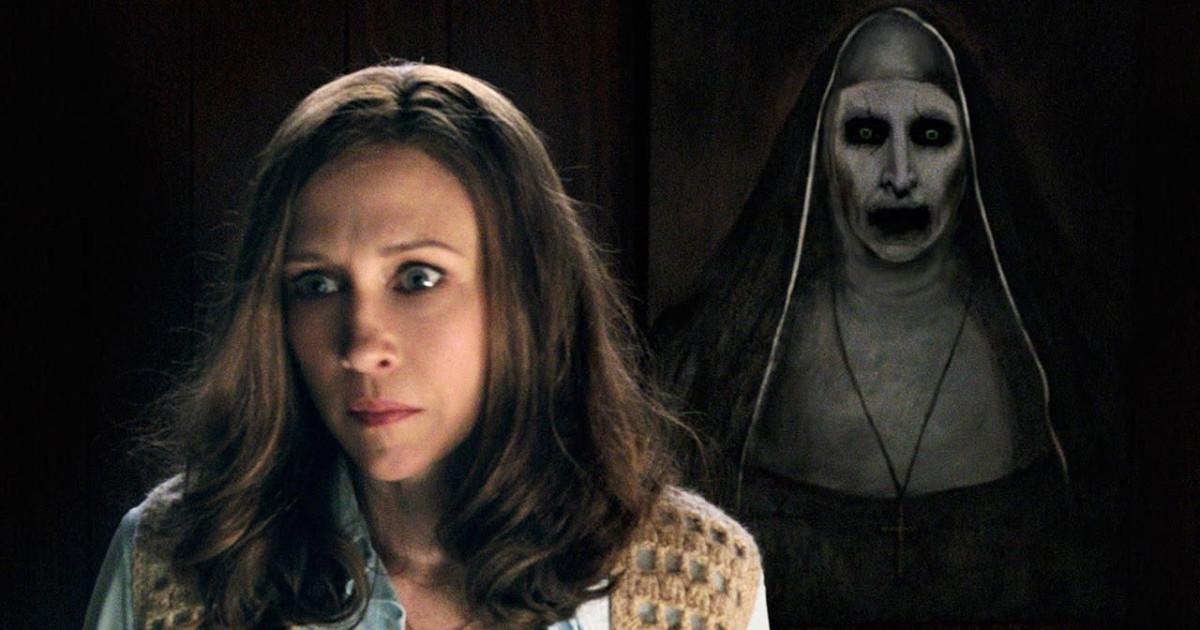 Lorraine percepisce la presenza demoniaca della suora alle sue spalle